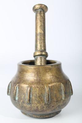 Original Renaissance Kugelform Rippenmörser Mohnkapsel Spanien Maurisch 16. Jh.
