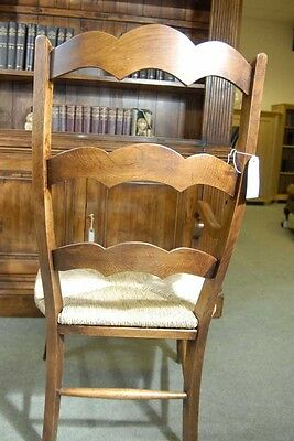 Set 6 English Carved Ladderback Rustic Chairs Ladder Chair 10
