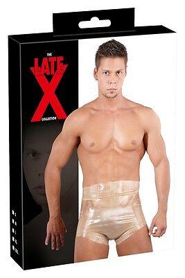 Boxer vita alta in lattice trasparente Latex Sexy shop Fetish party uomo donna 4
