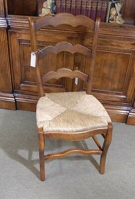 Set 6 English Carved Ladderback Rustic Chairs Ladder Chair 9
