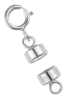 1x 925 Sterling Silver 5.5mm Magnetic Clasp Converter w//2 Spring Clasp  #5309-8
