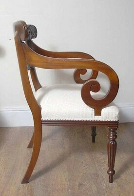10 English William IV Dining Chairs Regency Chair 3