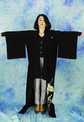 High-Quality   Japanese kimono   KURO-TOMESODE 160cm(62.9inch) 2