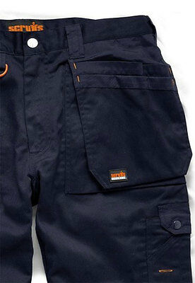 Scruffs WORKER NAVY Multi Pocket Work Trousers All Sizes Trade