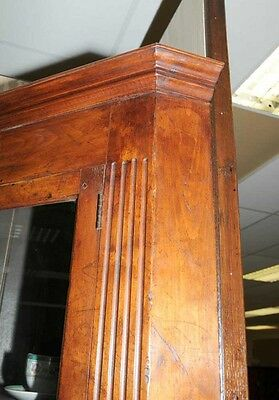 Farmhouse Cherry Wood Corner Cabinet Display Bookcase 11