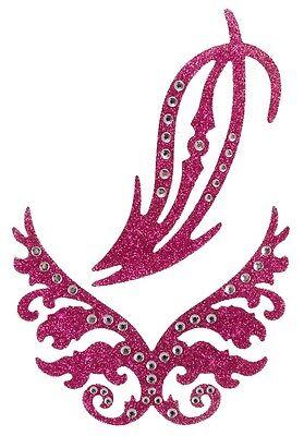 GLITTER STICKER Intimschmuck Intimsticker Venushügel Pink Pasties Erotik Tattoo