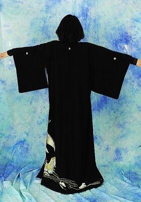 High-Quality   Japanese kimono   KURO-TOMESODE 160cm(62.9inch) 7