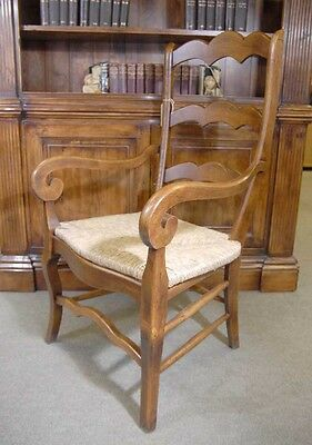 Set 6 English Carved Ladderback Rustic Chairs Ladder Chair 4