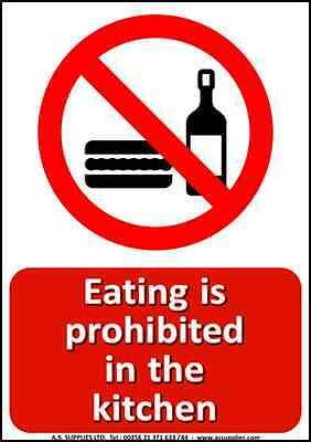 HEALTH AND SAFETY Sticker Signs -20 Pack Kitchen Set - Wash Caution ...