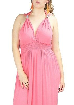 Womens Ladies Stretch Spring Coil Sleeveless Grecian Short Mini Dress Plus Size