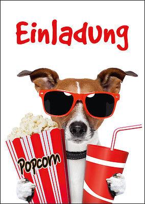 1 Von 6Kostenloser Versand 10 Lustige Einladungskarten Kindergeburtstag Kino,  Geburtstagseinladungen Kinder