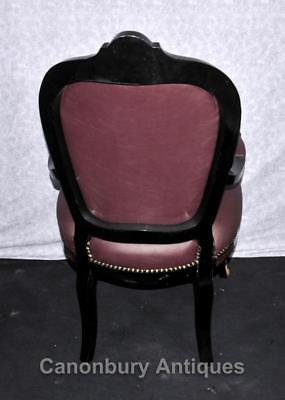 Pair French Boulle Arm Chairs Louis XV Fauteil Chair 5