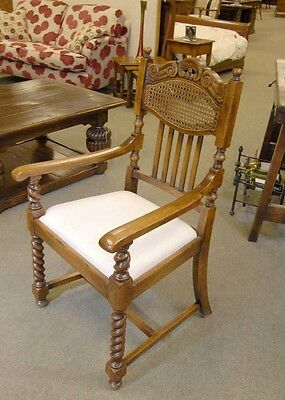 8 English William Mary Rustic Dining Chairs Barley Twis 2