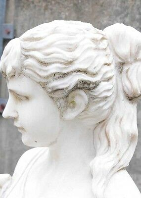 Hand Carved Italian Marble Maiden Female Statue 8