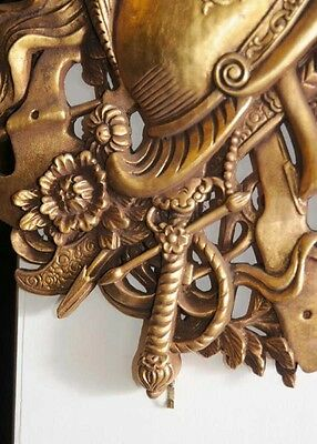 Pair French Gilt Carved Heraldic Wall Display 4