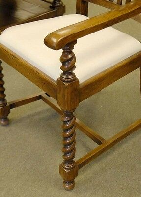 8 English William Mary Rustic Dining Chairs Barley Twis 3 • £2,450.00