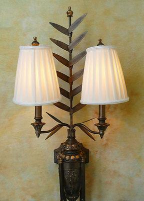 Wandlampe Lampe 2-armig Schmiedeeisen antik Look Landhaus vintage Burg PQ019-a