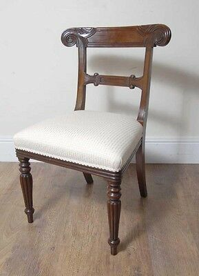 10 English William IV Dining Chairs Regency Chair 8