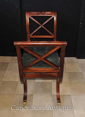 Pair Regency Stools Seats in Mahogany Day Chair 2