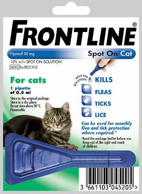 Frontline Spot On Cat Flea Tick Lice 1,3,6 Pipettes AVM-GSL FRONTLINE 3