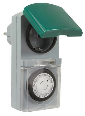 6er SET Zeitschaltuhr mechanisch Outdoor IP44 16A für Außen & Innen Timer Analog 2