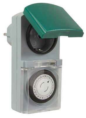 4er SET Zeitschaltuhr mechanisch Outdoor IP44 16A für Außen & Innen Timer grau 2