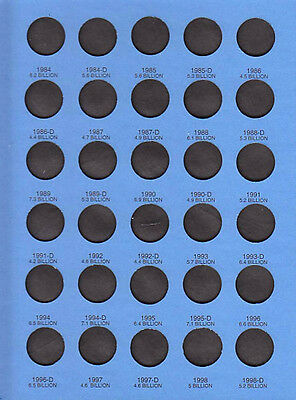 Whitman Blue Coin Folder 9000 Lincoln Memorial Cents 1959 - 1998  Album / Book 5