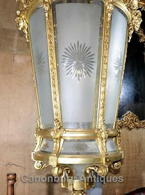 XL French Empire Ormolu Lantern Light Chandelier Interiors Lighting 2
