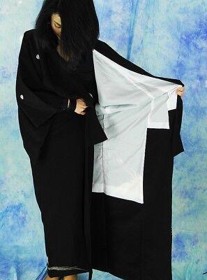 High-Quality   Japanese kimono   KURO-TOMESODE 160cm(62.9inch) 11