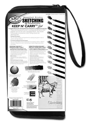 Sketching Set Pencils & Drawing Pad & Keep & Carry Zip Up Storage Case RSET-KCSS 3