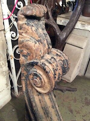 Antique Large Decorative Cast Iron Single Corbel #7421 4