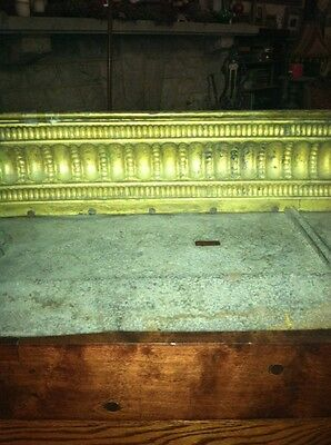 Vtg 1800's Ornate 4ft Fireplace Fender Surround Footed Egg Dart Brass 10