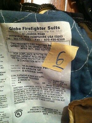 Fire Gear Firestar P82SPM Firefighter Turnout Proximity Pants 44 NP for sale online