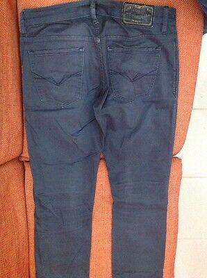 Pantaloni Jeans Guess Ragazzo 5 Tasche Taglia 44 Grigio Scuro Cotone Vita 86 5