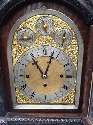 Victorian Impressive Oak Musical Bracket Clock On 9 Bells Very Big L@@@k