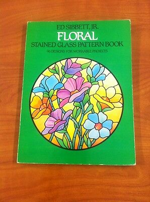 6 Of 12 Celtic Stained Glass Coloring Book Floral Pattern Sibbett