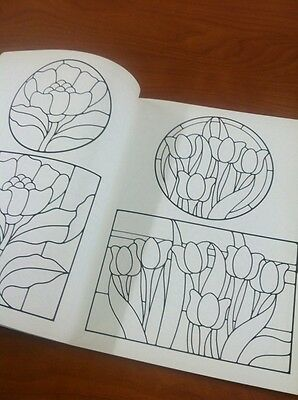 10 Of 12 Celtic Stained Glass Coloring Book Floral Pattern Sibbett