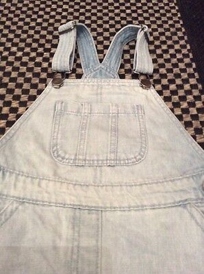 Cute NEXT Denim Dungarees Play suit Shorts 7 Yrs. 4