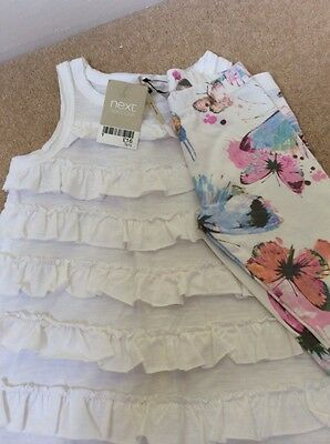 Next girls Butterfly Tunic Top and Leggings  Summer outfit 3 years NEW! 2