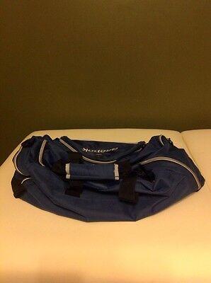 f3c41498 REEBOK BLUE NYLON Duffle Bag Portable Travel Suitcase Gym Athletic Sports  Tote