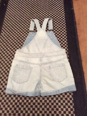 Cute NEXT Denim Dungarees Play suit Shorts 7 Yrs. 6