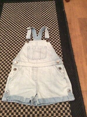 Cute NEXT Denim Dungarees Play suit Shorts 7 Yrs. 3