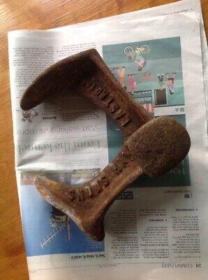 Vintage Triple Shoe Last Shoemakers Tool Heavy Door Stop Snows Cast Iron 4