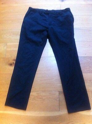 "Next  Boys Dark skinny fit tailoring  Trousers Waist 32 short "" Leg 29"" school 2"