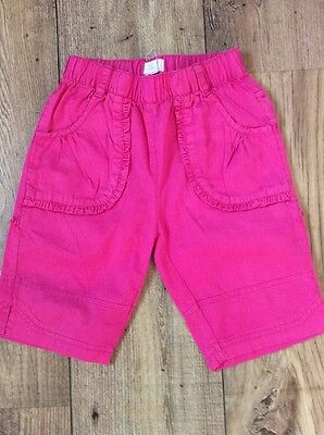 Pink Designer Cropped Trousers & White Smocked Top 2 Yrs 3
