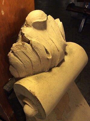 Extra Large Decorative Terra Cotta Corbel Building Facade Pieces PAIR #2676 10