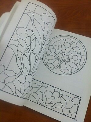 11 Of 12 Celtic Stained Glass Coloring Book Floral Pattern Sibbett