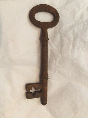 Old Vintage Antique Door Key Small Thin Unusual Georgian 11.7Cm 5
