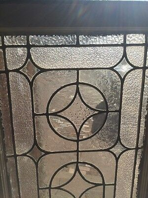 "Sg 723 Antique Transom Stainglass Window 19"" X 62"" 5"