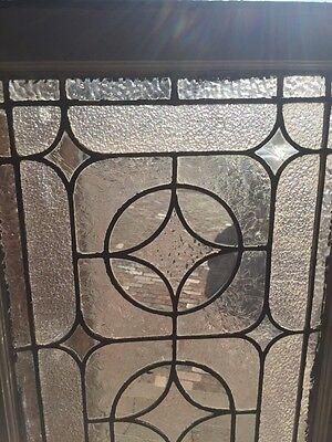 "Sg 723 Antique Transom Stainglass Window 19"" X 62"""